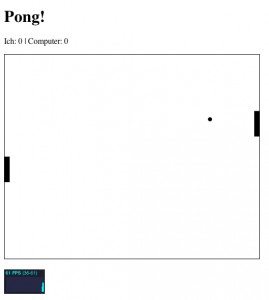 Pong! in HTML5