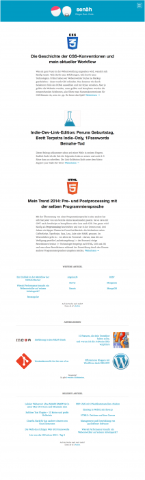 Markup zum Redesign, Version 1